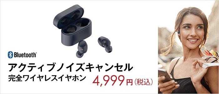 アクティブノイズキャンセル 完全ワイヤレスイヤホン 4,999円(税込) SWE-HT01BG